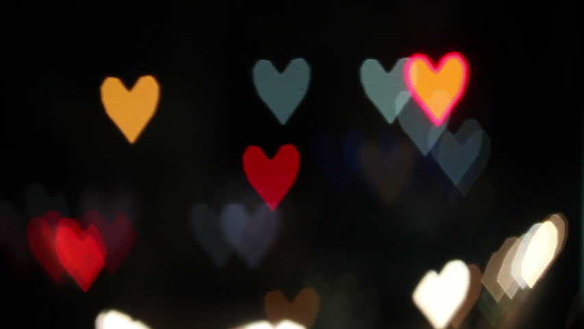 Heart Shaped Blurred Lights. Valentine Day Stock Footage Video 3269108 |  Shutterstock