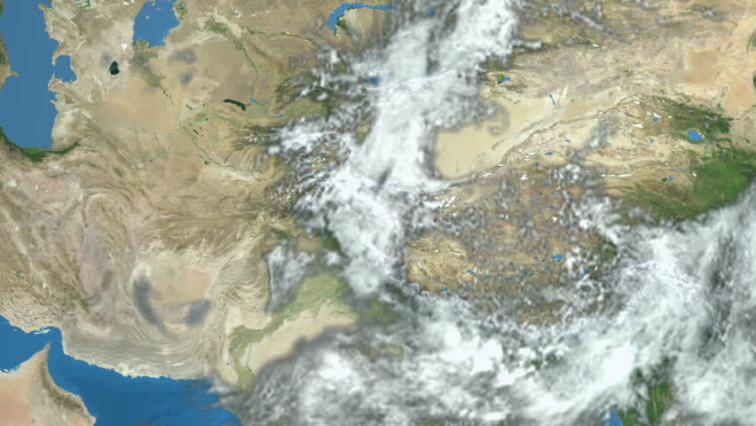 """Earth in space - zoom at Middle East.  """"Elements of this image furnished by NASA"""""""
