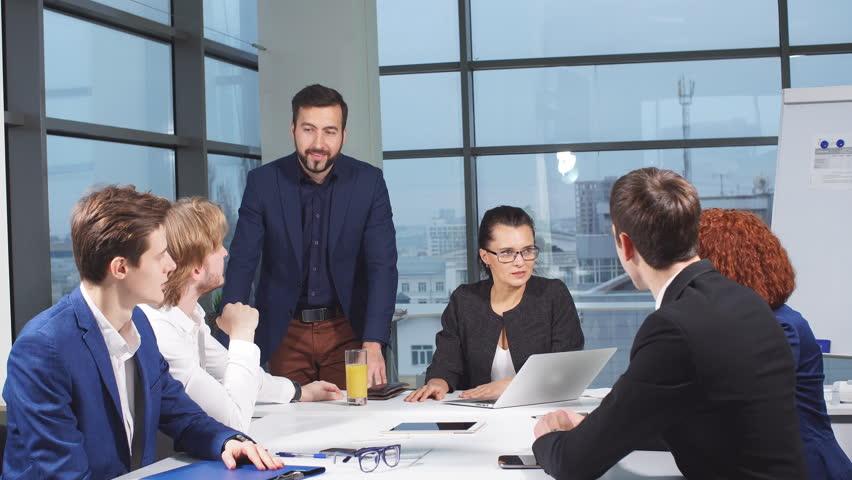 Business people meeting in office. | Shutterstock HD Video #32855623