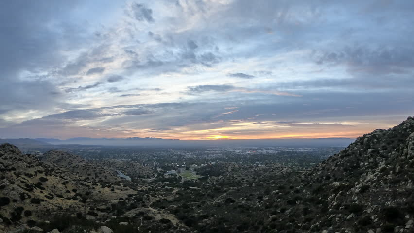 Los Angeles, California morning clouds time lapse above the San Fernando Valley and Santa Susana Pass.  | Shutterstock HD Video #32905321