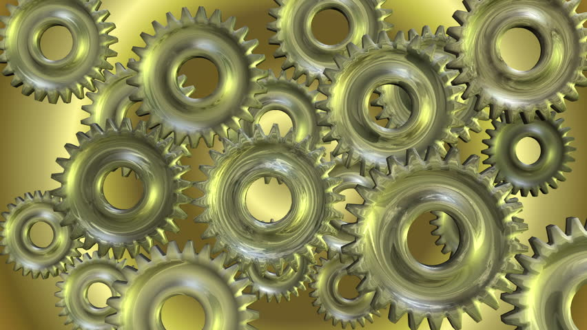 3D Animation of rotating Gears