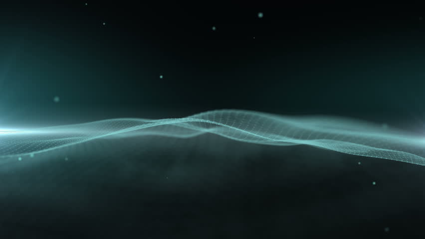 Green network wave abstract background. | Shutterstock HD Video #32966998