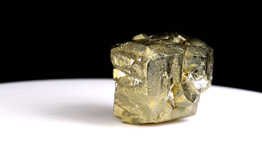 Pyrite on turn table