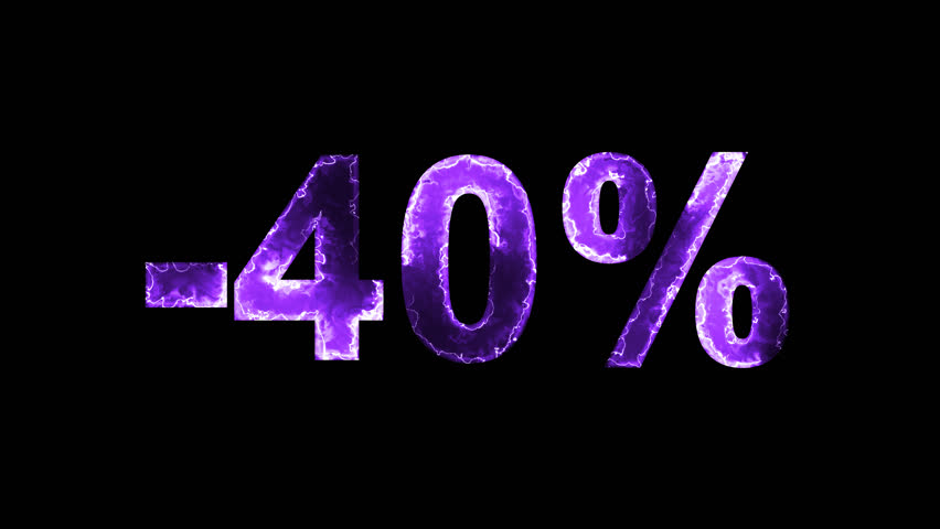 Luminous and shimmering haze inside the letters of the sale, discount, price, promotion, offer, promo, marketing, percent, tag, sale tag, -40%. Transparent, Alpha channel | Shutterstock HD Video #33019798