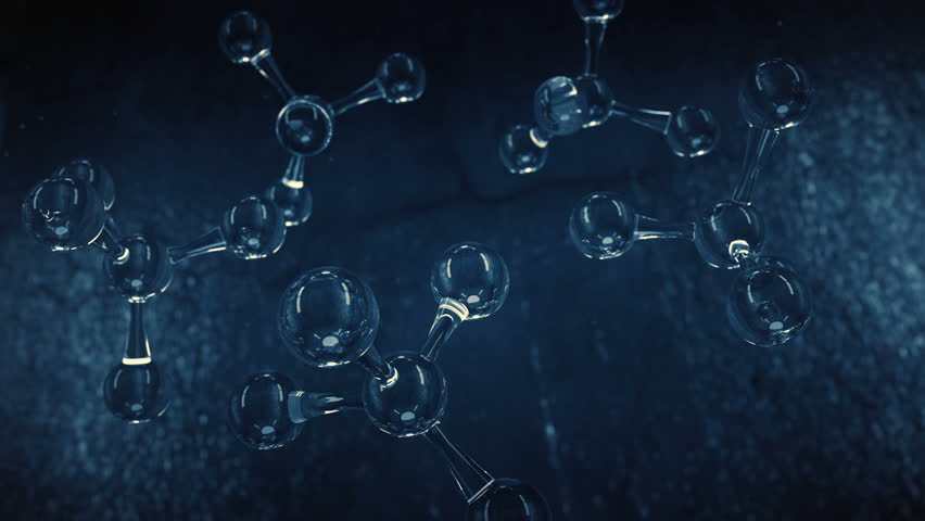 Glass Molecules animation.Beautiful 3D render of crystal atom cells.Blue. Type 1 | Shutterstock HD Video #33032518