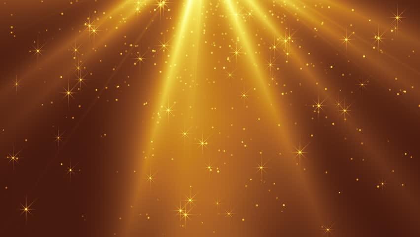Glittering gold stars falling slowly Christmas holiday background  | Shutterstock HD Video #33068341