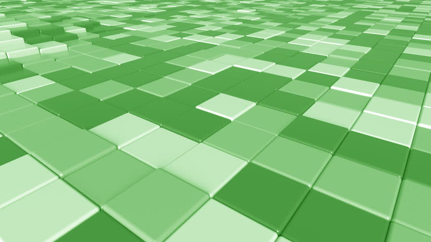 Moving square green tiles motion background, seamless loop | Shutterstock HD Video #33077548