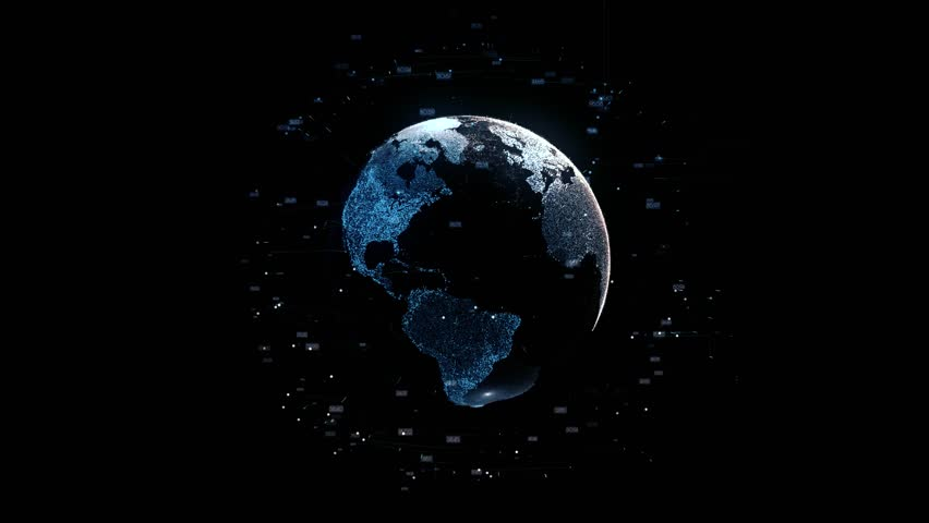 Visible Earth, Blue Marble Digital Clouds. planet Earth rotating animation future technology conveying the modern digital age and its emphasis on global connectivity among people business and social | Shutterstock HD Video #33079768
