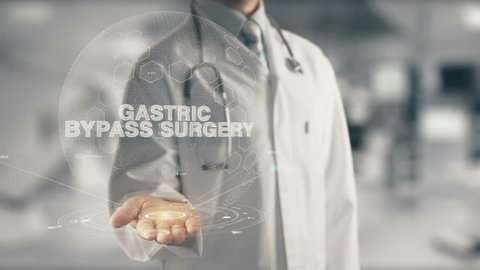 Doctor holding in hand Gastric Bypass Surgery