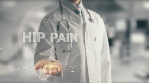 Doctor holding in hand Hip Pain