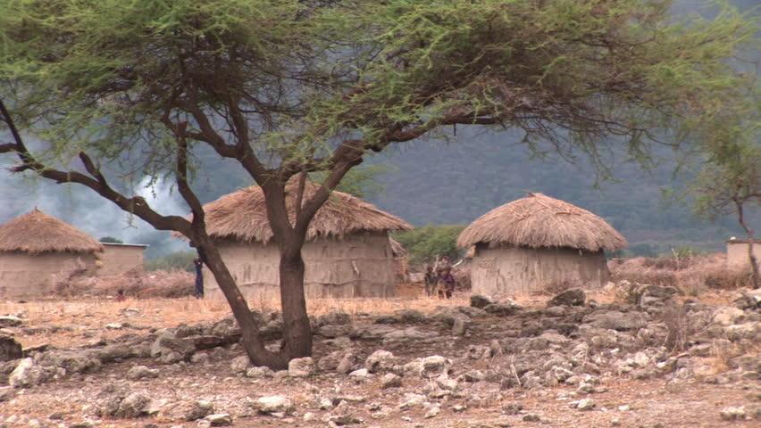 African hut Stock Vide...