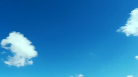 Moving clouds & sky, blue skies with white fast moving clouds, fluffy cloud buildings. Puffy fluffy white clouds blue sky time lapse move cloud background Blue clouds sky time lapse cloud Cloudscape.