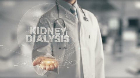 Doctor holding in hand Kidney Dialysis