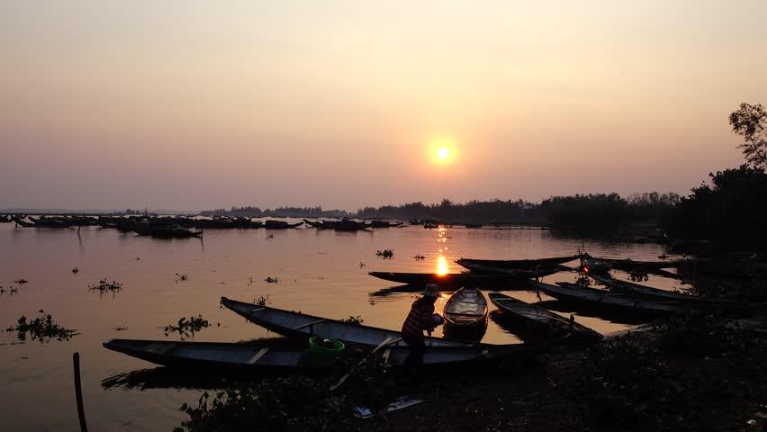 Quang Loi Lagoon, famous lagoon in Hue, Viet Nam ,Travel | Shutterstock HD Video #33188728
