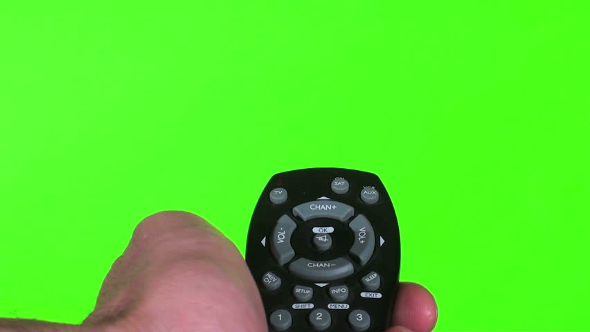 Remote against Green Screen with static V2 - HD