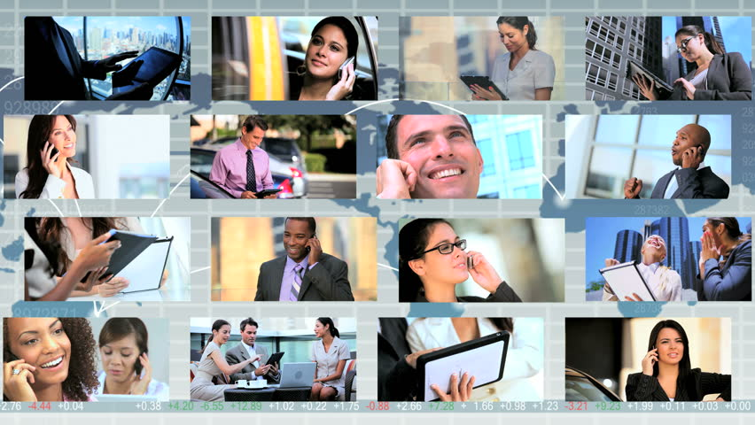 Global montage images featuring city business people using tablet and Smart Phone technology worldwide | Shutterstock HD Video #3326057