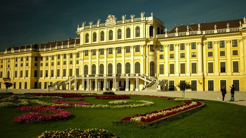 In this Hyperlapse the camera moves backwards very speedy on a very long distance from the castle Schoenbrunn in Vienna and stops when darkness befalls.