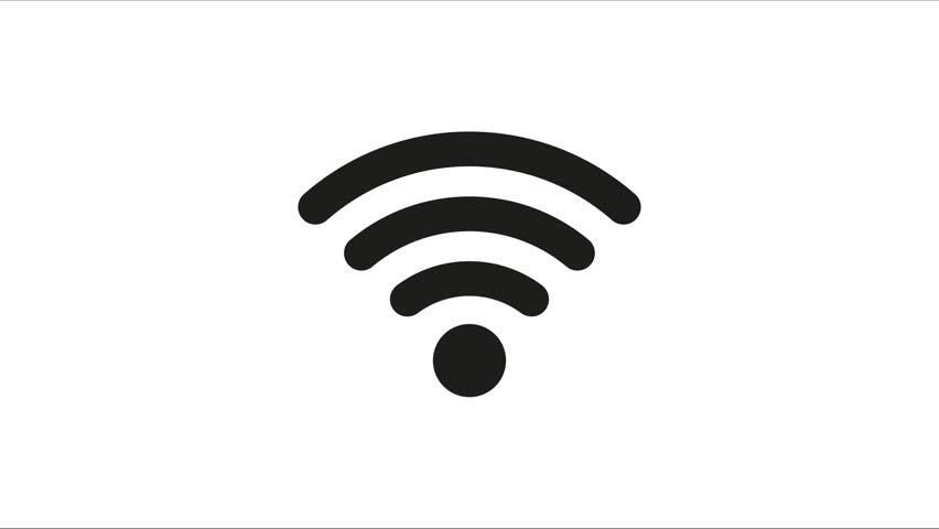 Icon Connection To The Wifi Point With A Changing Level Of