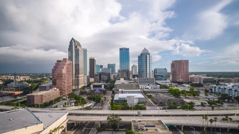 Tampa, Florida, USA aerial downtown skyline.