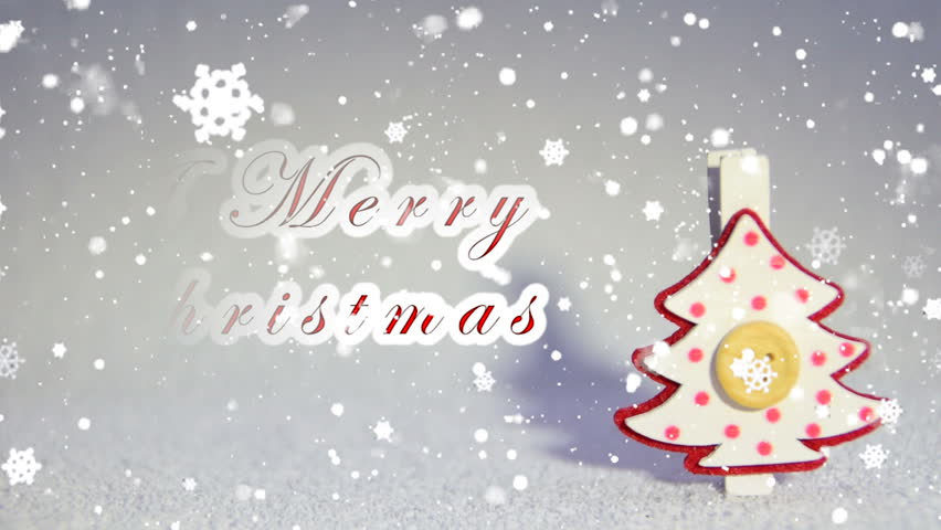 Animated merry christmas and happy new year greeting card stock we wish you a merry christmas and a happy new year text hd stock video m4hsunfo Image collections