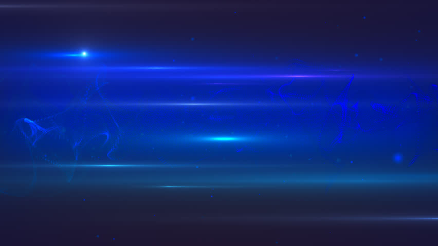 Animated motion abstract background with star field and lens flares, dark blue colors | Shutterstock HD Video #33450418