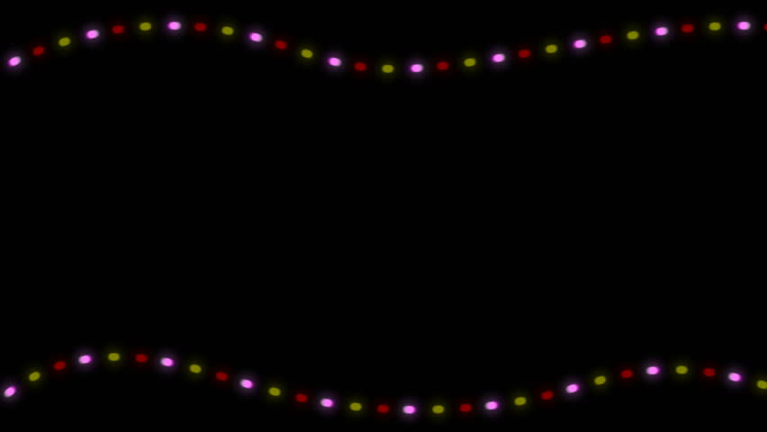 flashing christmas lights on black background 3d rendering seamless loop