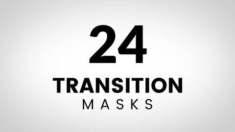 24 Transition masks templates. Ultimate set of transitions for effective business presentation or product promotion. Simple and stylish shape masks for trendy slide theme.