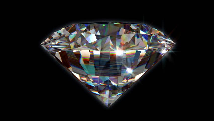 Seamless turning 3D Brilliant Diamond - High Definition
