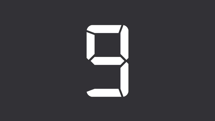 animation of an count down
