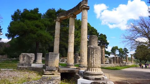 Video from archaeological site of Ancient Olympia, Peloponnese, Greece