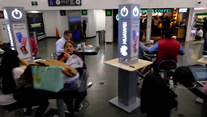 MEXICO - NOVEMBER 22, 2017: Benito Juarez International Mexico Airport with Passengers and People. Departure Area  | Shutterstock HD Video #33673408
