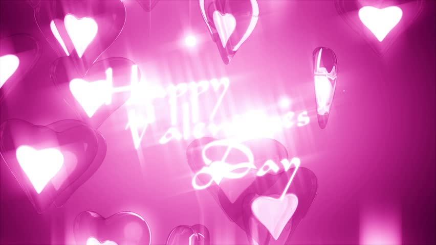 Happy Valentines Day 3d Hearts Stock Footage Video 100 Royalty