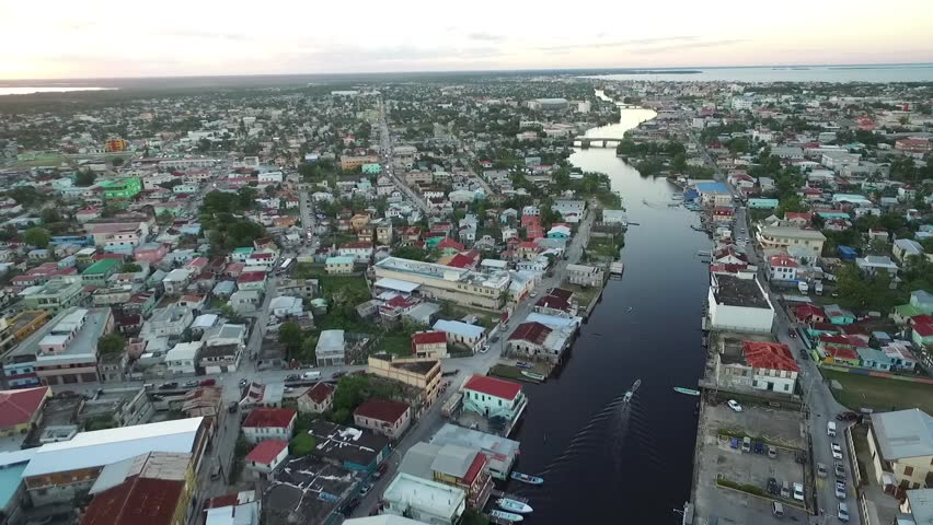 Belize Cityscape and Beautiful Caribbea sea in Background.  | Shutterstock HD Video #33687598