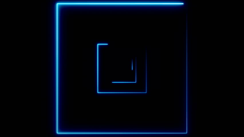 Abstract background with neon squares. Seamless loop | Shutterstock HD Video #33703468