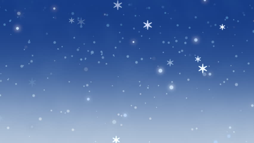White snowflakes, stars and abstract bokeh particles falling. Happy New Year and Merry Christmas shiny background | Shutterstock HD Video #33713227