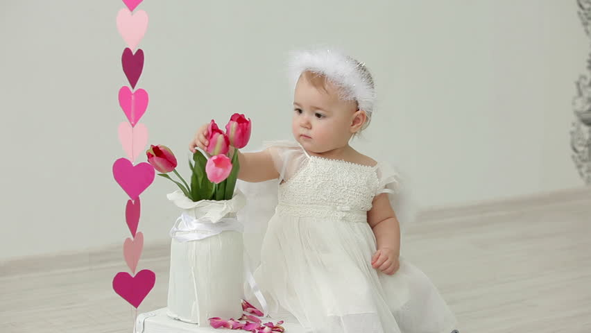 622dc942e Cute Baby Girl Dressed as Stock Footage Video (100% Royalty-free ...