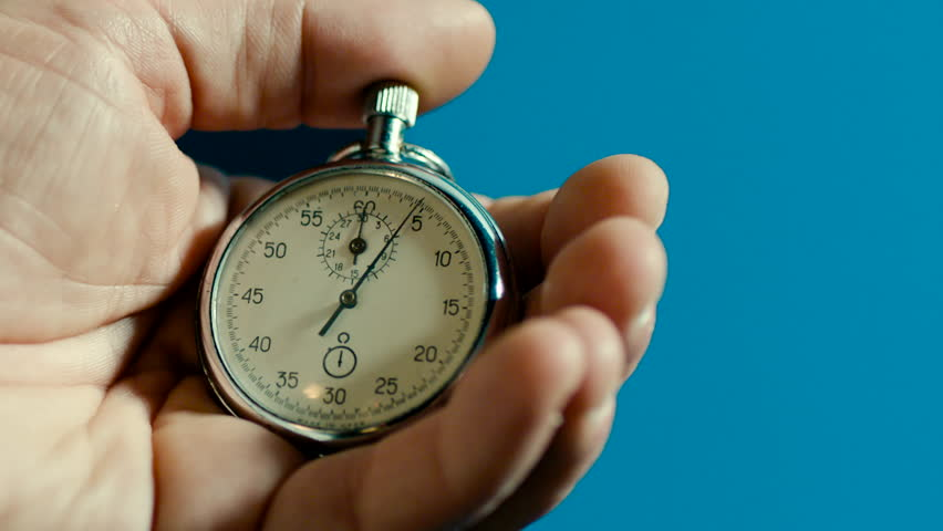 One person starting up a stopwatch | Shutterstock HD Video #33721588