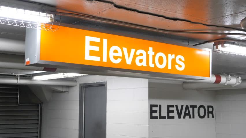 4K Elevator Sign, Lift Symbol Directions, Up Down Information | Shutterstock HD Video #33770608