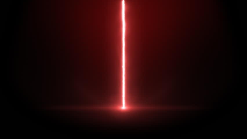animation of a laser beam on a black background alpha channel
