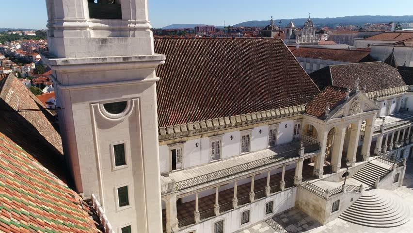 Tower and University of Coimbra in Portugal