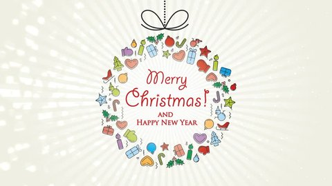 Animated Christmas Season greetings Card - Merry Christmas card
