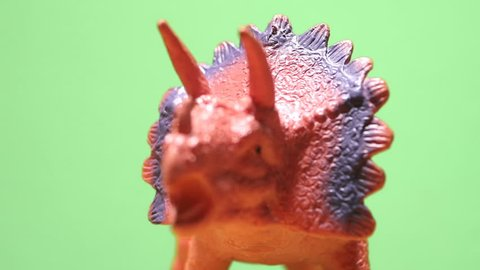 Triceratops close up smoothly. Jurassic period. Cretaceous period.