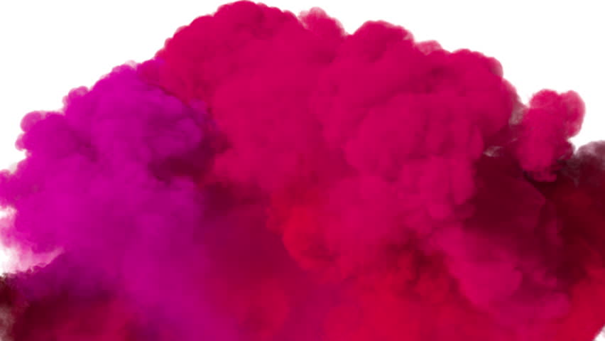 Spreading colored smoke, wiping frame from down to top. Good for wipe transitions & overlay effects. Density - low. Separated on pure white background, contains alpha channel.