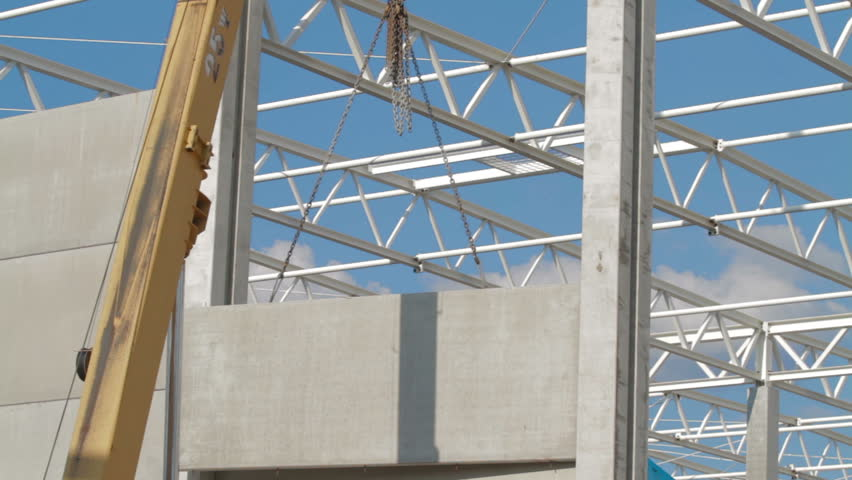 Timelapse Mobile crane is operating. Mobile crane is carry concrete | Shutterstock HD Video #34103818