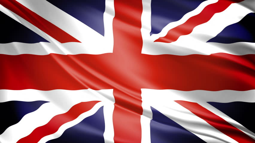 United Kingdom Flag: UK's Union Jack waving. 1080p