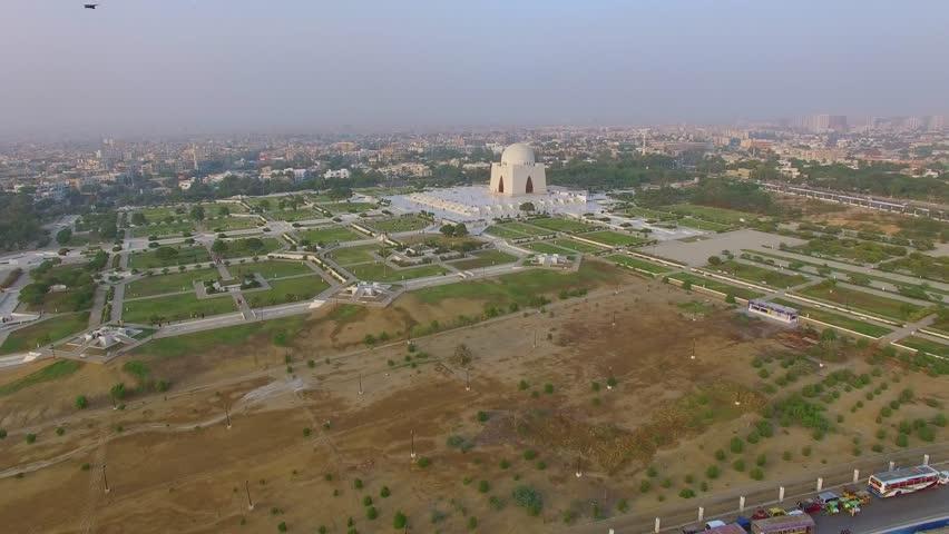 Celebrations of independence day near Mazar-e-Quaid Tomb in Karachi
