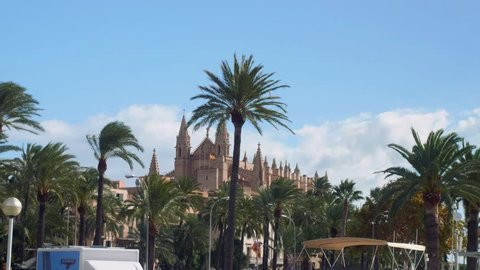 View of Palma Cathedral in Palma de Mallorca