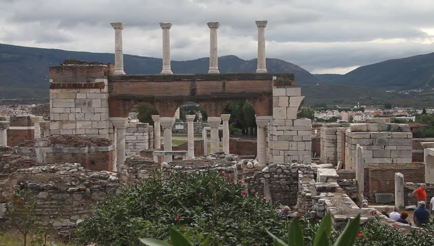 Ruins of Saint John basilica in Selcuk, Turkey