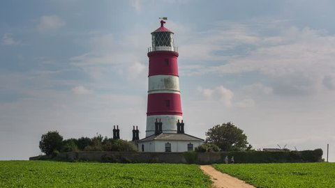 timelapse of the Happisburgh lighthouse in norfolk england