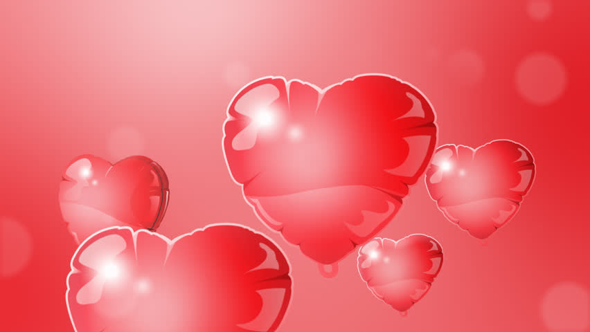 Floating Red Hearts On Red Background Animation For Valentine\'s ...